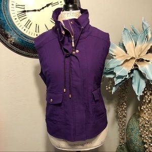 Drapers& Damon's Purple vest with gold hardware